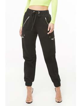Drawstring Utility Joggers by Forever 21