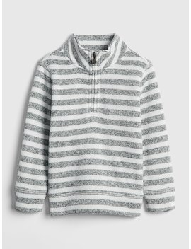 Stripe Quarter Zip Sweater by Gap