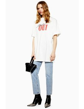 'mais Oui' Oversized T Shirt by Topshop