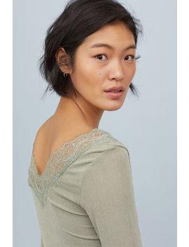 Shirt Mit Spitzendetails by H&M