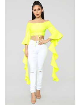 I've Got It All Top   Yellow by Fashion Nova