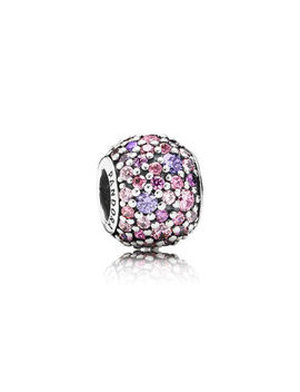 Pavé Lights Charm, Multi Colored Cz Sterling Silver, Pink, Cubic Zirconia by Pandora