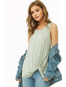 Twist Front Tank Top by Forever 21