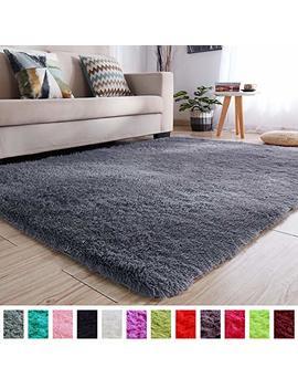 Pagisofe Soft Kids Room Nursery Rug Bedroom Living Room Carpet 4' X 5.3',Gray by Pagisofe