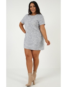 Come As You Are Mini Dress In Grey Tweed by Showpo Fashion