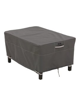 Classic Accessories Ravenna Rectangular Patio Ottoman/Table Cover   Premium Outdoor Furniture Cover With Durable And Water Resistant Fabric, Large (55 167 045101 Ec) by Classic Accessories