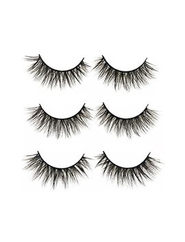 3 D False Eyelashes Long Thick Dramatic Look Handmade Fake Eye Lashes Makeup Extension 3 Pair Pack(3 D 15) by Jezz Beauty
