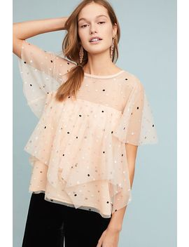 Tiered Polka Dot Top by Eva Franco