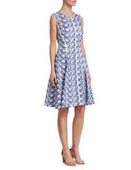 Seamed Lace Dress by Lela Rose