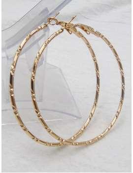 Bamboo Hoop Earrings   Golden by Zaful