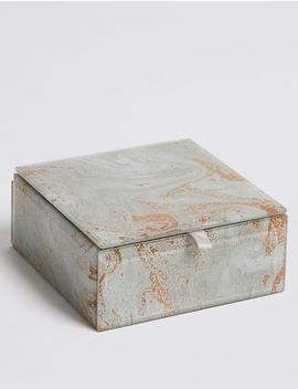 Glass Small Marble Jewellery Box by Marks & Spencer