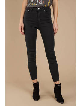 Channing Black High Rise Cropped Skinny Jean by Tobi