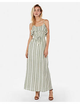 Striped Drawstring Maxi Dress by Express