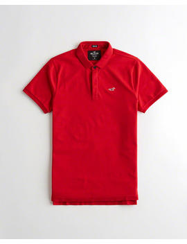 Stretch Shrunken Collar Slim Fit Polo by Hollister