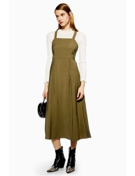 Midi Pinafore Slip Dress by Topshop
