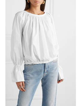 Bella Pinstriped Organic Cotton Poplin Top by Vivienne Westwood