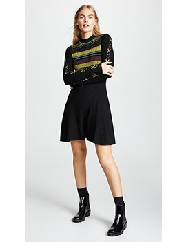 Rib Stripe Flare Dress by Opening Ceremony