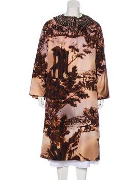 Wool Trimmed Silk Coat by Prada