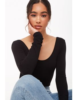 Seamless Long Sleeve Bodysuit by Forever 21