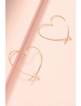 Essential Hammered Heart Hoops by Stella&Dot