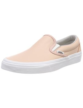 Vans Unisex Adults' Classic Slip On Trainers, Pink ((Leather) Oxford/Evening Sand Qd6), 5.5 Uk 38.5 Eu by Vans