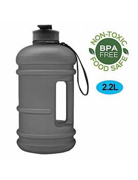 Enine Water Jug 2.2 L Large Sport Water Bottle Big Capacity Leakproof Container Bpa Free Plastic With Carrying Loop Fitness For Camping Training Bicycle Hiking Gym Outdoor by Enine
