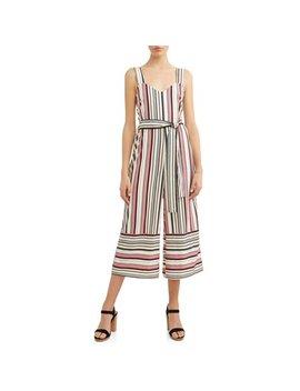 Women's Stripe Wide Leg Jumpsuit by Love Sadie