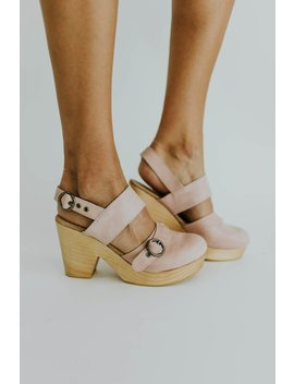 Free People Park Circle Clog In Pink by Roolee