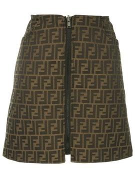 Monogram Skirt by Fendi Vintage