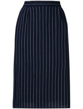 1980's Pinstripe Tailored Skirt by Fendi Vintage