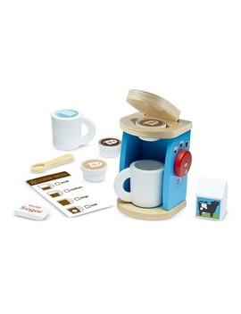 Melissa & Doug® 11 Piece Brew And Serve Wooden Coffee Maker Set   Play Kitchen Accessories by Melissa & Doug