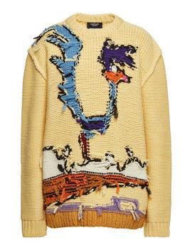 X Looney Tunes Gemusterter Distressed Pullover Aus Schurwolle by Calvin Klein 205 W39 Nyc