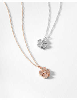 Crystal Clover Necklace by Ted Baker