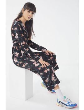Uo Floral Button Down Jumpsuit by Urban Outfitters