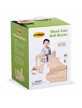 Edushape Wood Like Soft Blocks, 80 Piece by Edushape