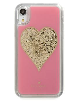 Liquid Glitter Heart I Phone X/Xs/Xr & Xs Max Case by Kate Spade New York