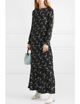 Garola Floral Print Crepe De Chine Dress by By Malene Birger