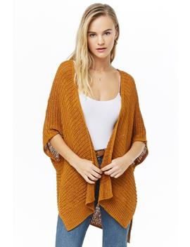 Ribbed Ricrac Loop Knit Cardigan by Forever 21