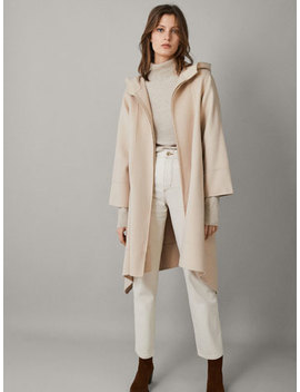 Wool Cape Coat by Massimo Dutti