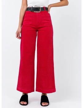 Rolla's Cord Sailor Pant Red by Rolla's