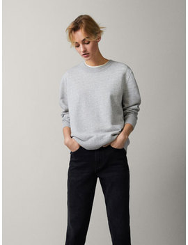Shimmer Cotton Sweatshirt by Massimo Dutti