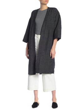 Grid Print Open Front Duster by Madewell