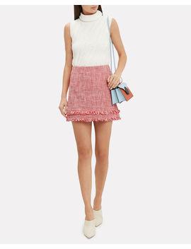 Marlena Tweed Mini Skirt by Intermix