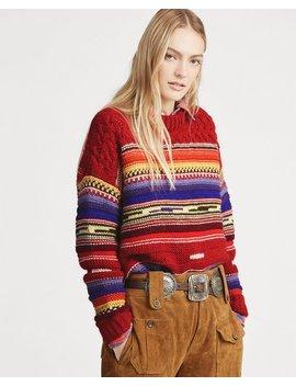 Striped Wool Cashmere Sweater by Ralph Lauren