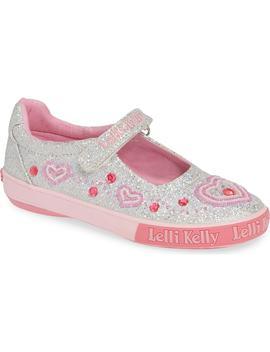 Beaded Heart Glitter Mary Jane Sneaker by Lelli Kelly
