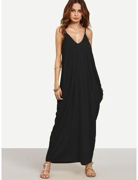 V Neckline Cocoon Cami Dress by Shein