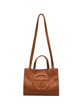 Brown Medium Logo Shopping Bag by Telfar