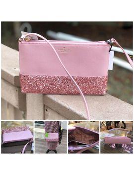 Nwt Kate Spade Ramey Greta Court Glitter Crossbody Handbag Dusty Peony Pink by Kate Spade New York