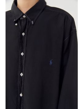 Urban Renewal Recycled Overdyed Oversized Button Down Shirt by Urban Renewal