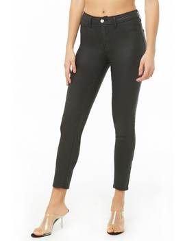 Coated Skinny Pants by Forever 21